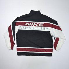Vintage 90s NIKE Color Block Shell Jacket / Nike Windbreaker / Old school Streetwear Tracktop / NIKE Swoosh Big Logo Embroidered / Large