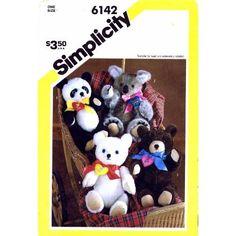 "Simplicity 6142 sewing pattern makes 16"" Teddy Bear,Polar Bear,Koala and Panda: Simplicity: Amazon.com: Books"