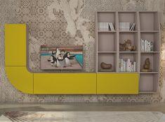 Modern Wall Unit Velvet 121 by Artigian Mobili - $3,275.00