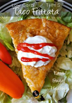 Low Carb Taco Frittata – Easy, Frugal and THM Friendly