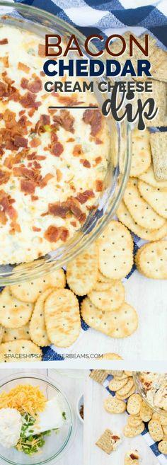 Bacon Cheddar Cream Cheese Dip Recipe