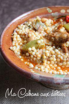 Aïch, petits plombs en sauce (berkoukes)