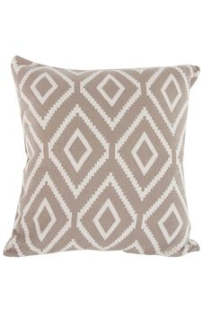 "Cotton cashmere blend pillow in brown kensington.     Measures: 20"" x 20""    Kensington Pillow Brown by A&B Home. Home & Gifts - Home Decor - Pillows & Throws Texas"