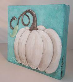 Macre's Art Class: DIY Painted Pumpkin on Canvas Pumpkin Canvas Painting, Halloween Canvas Paintings, Canvas Painting Tutorials, Halloween Painting, Autumn Painting, Diy Canvas Art, Autumn Art, Painting For Kids, Diy Paintings On Canvas