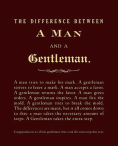 Congratulations to all the gentleman who took the extra step this year.