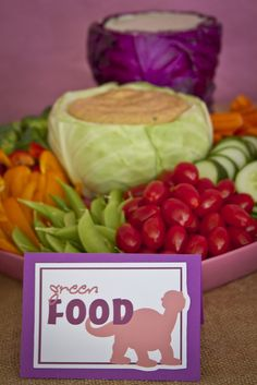 Veggies at a Dinosaur Party #dinosaur #partyfood
