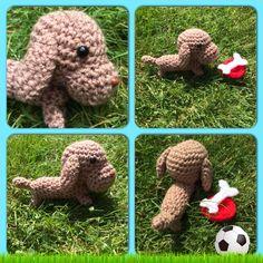 Crochet miniature dachshund