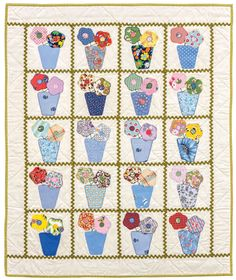 Perfect Posies baby quilt by Retta Warehime