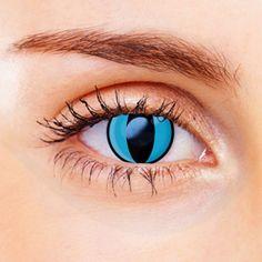 Prescription Cat Eye Contacts Green