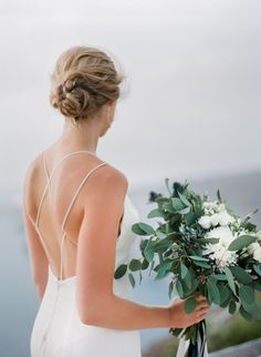 Santorini Film Wedding Photographer Peter and Veronika Intimate Weddings, Greek Islands, Destination Wedding Photographer, Santorini, Hairstyles, Fine Art, Film, Dresses, Fashion