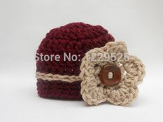 Baby Boy Hat,Baby Girl Hat,Newborn Boy Girl hat,Burgundy,Taupe,Newborn  PropTwins Coming Home Outfit,Baby Boy Clothes,Crochet