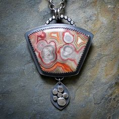 Sterling+Silver+and+Laguna+Lace+Agate+Necklace+by+McComseyDesigns
