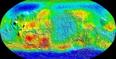 Map of neutron emissions on Mars telling us where water is and was on the planet