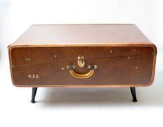 End table from Vintage Suitcase