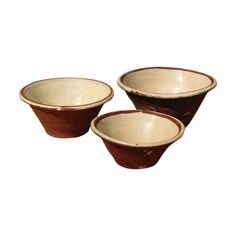 Trio Vintage French Glazed Crocks