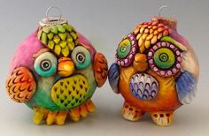 Owls by DOREEN KASSEL | Polymer Clay Planet