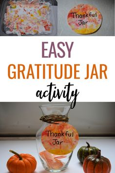 How to make a family gratitude jar using shaving cream marbled paper. A fun activity on thankfulness for your toddler or preschooler! Toddler Preschool, Toddler Crafts, Diy Crafts For Kids, Toddler Activities, Fun Activities, Thanksgiving Post, Thanksgiving Crafts For Toddlers, Gratitude Jar, Make A Family