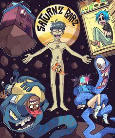 Saturnz Barz - Gorillaz, fanart by Gerph Murdoc Gorillaz, Gorillaz Band, Gorillaz Fan Art, Art Adventure Time, Sunshine In A Bag, Monkeys Band, Fan Art Anime, Art Disney, Jamie Hewlett