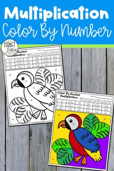 Multiplication color by number worksheets are so engaging, students won't mind practicing math facts. These no prep color by number pages have been completely updated for 2021. Fun math activities are great for those students needing a little extra practice, early finishers, or at home learning. Just grab a box of crayons, print, and go! Learning Multiplication Facts, Math Fact Fluency, Multiplication Worksheets, Multiplication And Division, Number Worksheets, Math Facts, Division Activities, Fun Math Activities, Teacher Resources