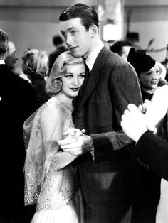 """Jimmy Stewart and Ginger Rogers in """"Vivacious Lady"""" (1938)"""
