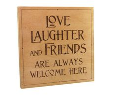Love wall art  wood pyrography  Love Laughter and by bkinspired, $55.00