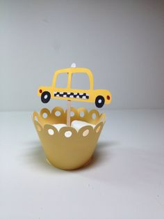 Taxi/Cab Cupcake Toppers/Planes/Trains and Automobiles/Happy Birthday Party