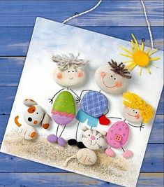 Rock Painting Craft Ideas With Pebbles And Stones Craftionary - Collect Rocks Pebbles And Stones On Your Next Trip To Park And Beach Make Hand Painted Rocks Rock Painting Painted Pebbles Painted Stones Stone Art Kids Crafts, Family Crafts, Summer Crafts, Projects For Kids, Diy For Kids, Diy And Crafts, Craft Projects, Arts And Crafts, Craft Ideas