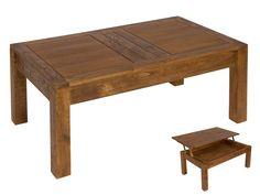 Mesa de centro elevable de madera de mindi Ohio                                                                                                                                                     Más