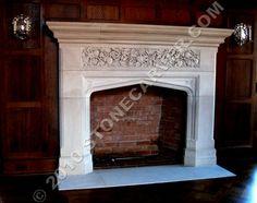 English Tudor Gothic Fireplace Surrounds   Travertine   fireplaces ...