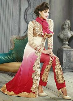 Auspicious Georgette Pakistani Suit www.ethnicoutfits.com Email : support@ethnicoutfits.com What's app : +918141377746 Call : +918140714515