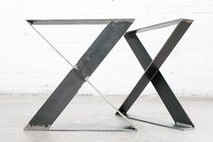 Features:  • INDUSTRIAL STYLE: Creates an industrial, modern look with any project • SUPERIOR STRENGTH: 16 tall legs made of 1/8 thick solid flat steel • EASY INSTALLATION: 7 pre-drilled holes in mounting plate allow for easy and quick installation • GREAT FOR ANY PROJECT: Perfect for a coffee table, bench, etc. • MONEY BACK GUARANTEE: 100% money back guarantee if you are not satisfied with this product   Details:  Size Detail: • 16 inch Tall X 16 inch Wide Frame Legs: Our 16 frame legs…