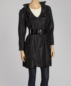 Another great find on #zulily! Black Swirl Jacket - Women & Plus by Jerry T Fashion #zulilyfinds