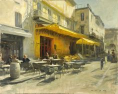 The cafe that Van gogh painted at night.