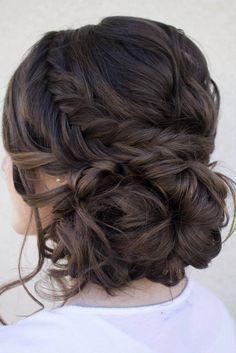 Beautiful Formal Updo | Wedding Hairstyle | Curled Hair Style | Dark Brown Hair