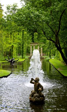 Havlystparken, Norway. Havlystparken is the name of the wonderful garden at Ramme. The owner Petter Olsen has created a garden worthy of Shakespeare's A Midsummer Night's Dream.