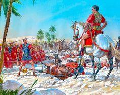 La batalla de Ruspina, 4 de enero, 46 AC