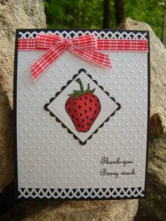 CAS15 Strawberry #1 by catcrazy - Cards and Paper Crafts at Splitcoaststampers  (Feb'13)