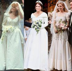 Royal Wedding Gowns, Celebrity Wedding Dresses, Royal Weddings, Celebrity Weddings, Royal Family Pictures, Eugenie Of York, Prince And Princess, Princess Kate, Duchess Of York