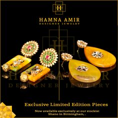 Limited Collection of Hamna Amir Designer Jewelry's Exclusive Pieces only at Shano (Birmingham stockist, UK)