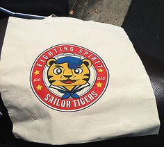 Fighting Spirit! My newest design Sailor Tigers is available on a Tote Bag for the first time.