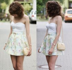 love that pastel skirt