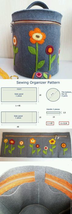 Sewing Organizer Tutorial 2019 Purse Organizer Sewing Pattern How to sew for beginners. Step by step illustration tutorial. The post Sewing Organizer Tutorial 2019 appeared first on Bag Diy. Sewing Hacks, Sewing Tutorials, Sewing Crafts, Sewing Patterns, Sewing Tips, Sewing Ideas, Bag Patterns, Tutorial Sewing, Purse Tutorial
