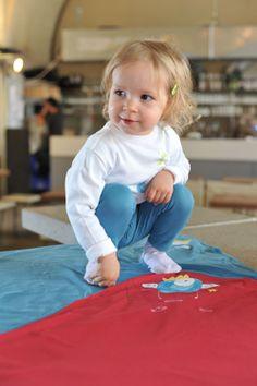 #kidswear #blue #white #blanket #happiness