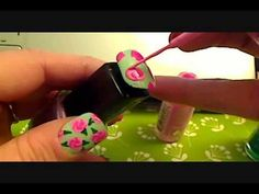 Vintage Victorian Floral Nails Tutorial, Skip to 2:47 for painting the roses!
