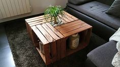 table basse caisses bois