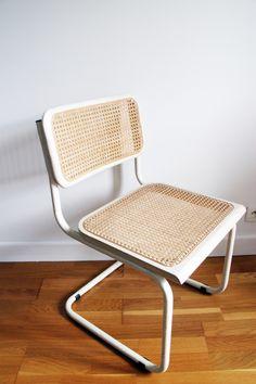 Chaise vintage scandinave blanche et bois pas cher - 19€ sur ...