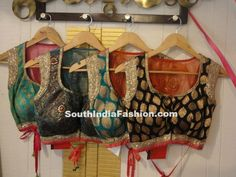 Gorgeous Blouse Designs ~ Celebrity Sarees, Designer Sarees, Bridal Sarees, Latest Blouse Designs 2014 South India Fashion