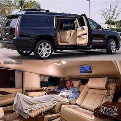 Cadillac Escalade ESV by suv Cadillac Escalade, Cadillac Ats, Escalade Esv, Kombi Motorhome, Luxury Van, Mercedez Benz, Top Luxury Cars, Suv Cars, Bmw I8