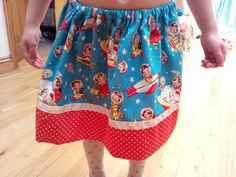 "Handmade ""rocket rascals"" skirt by TheCraftyMill on Etsy https://www.etsy.com/listing/189702669/handmade-rocket-rascals-skirt"