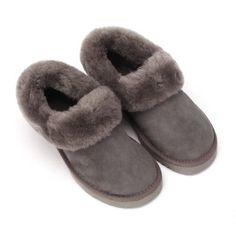 Sheep Touch Women's BALM Twin-Faced Australian Sheepskin Slippers Closed-Back Grey Size 6 Sheep Touch. $59.95